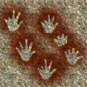 Gargas hands public domain