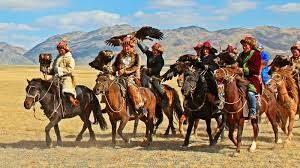 blue-silk-horses-eagles-mongolia
