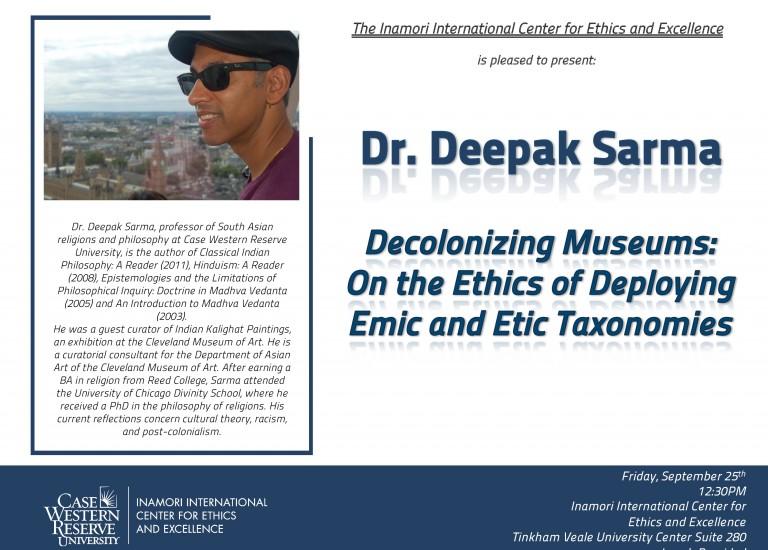 Deepak Sarma guest speaker Sept 2015-1
