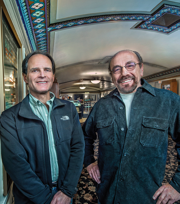 Jonathan Forman (left) took his first film studies class with Louis Giannetti (right) as a sophomore at Western Reserve College. Today, he is president of Cleveland Cinemas, which includes the Cedar Lee Theatre in Cleveland Heights.