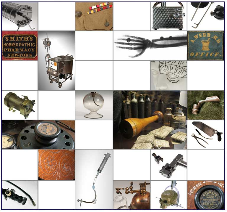 collage of various artifacts