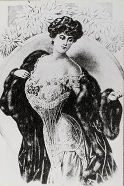 Long waisted corset advertisement, c.1903