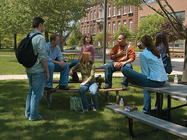general students in quad
