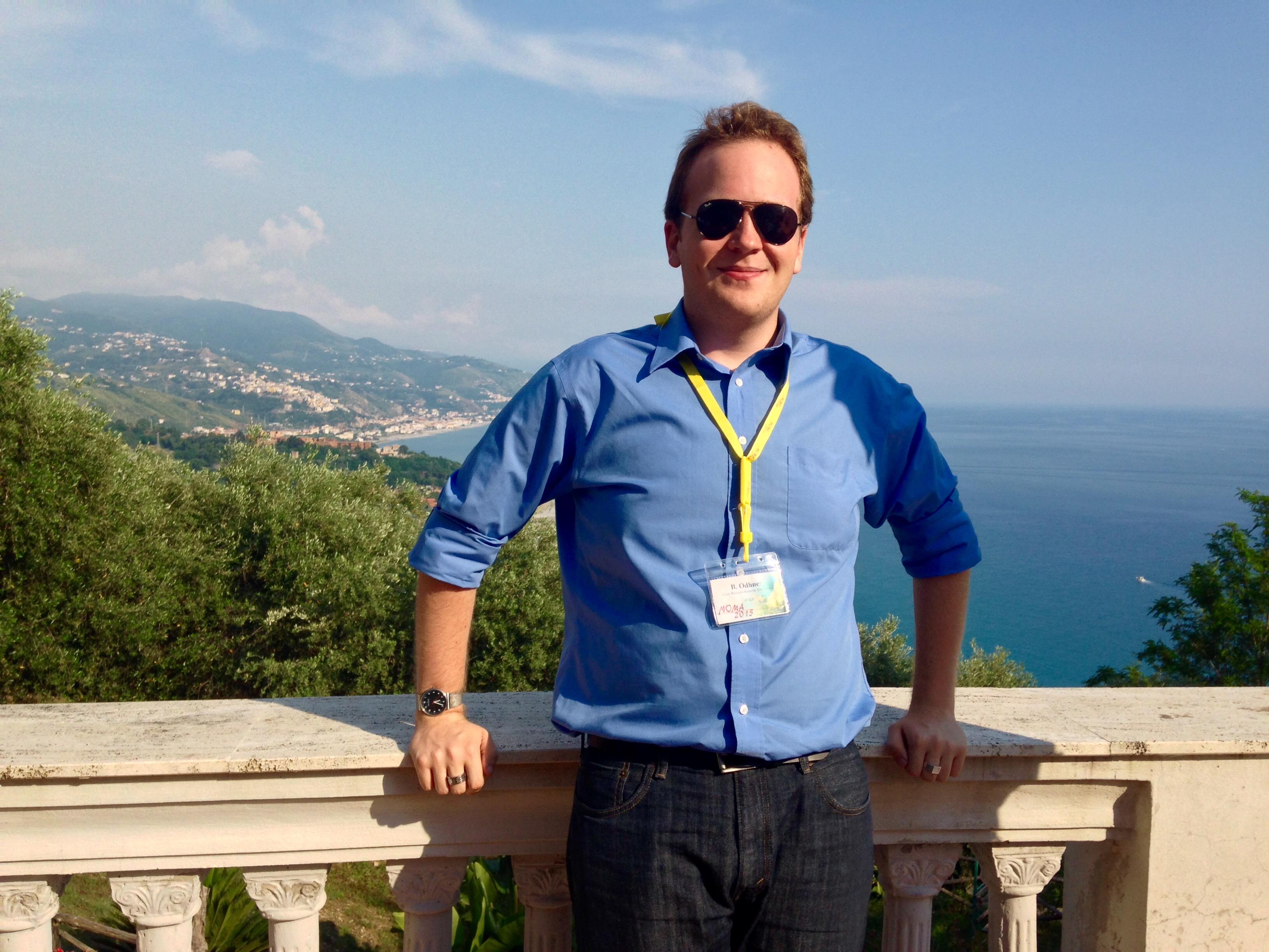 Brad Odhner in Cetraro, Calabria