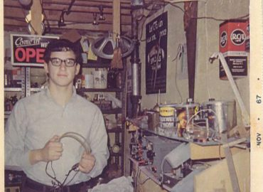 At age 16, Mark Gelfand had an electronics workshop in his family's home in Cleveland. Now, he is dedicated to sparking children's interest in science and engineering. Photo credit: Courtesy of Gelfand Family Charitable Trust