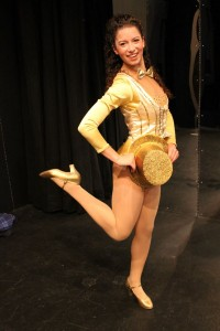 Sarah Bogomolny poses onstage at Chagrin Valley Little Theatre.