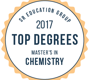 SR Education Group 2017 Top Degrees in Masters in Chemistry badge