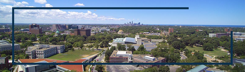 Aerial view of CWRU campus