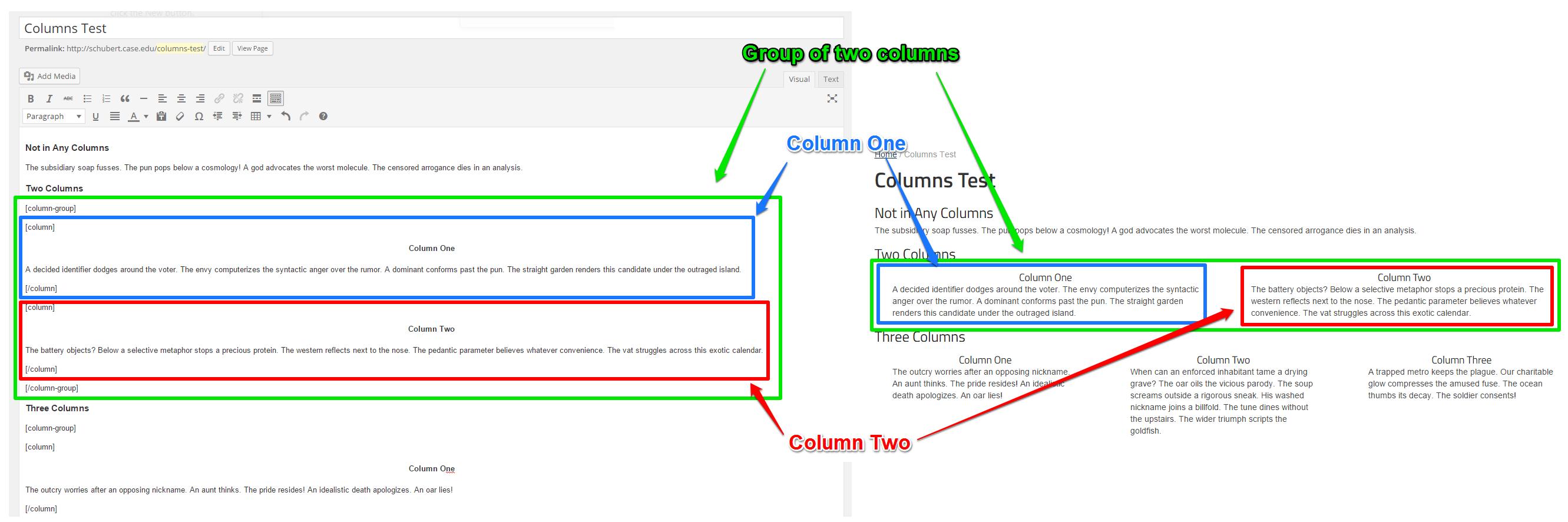 Columns Comparision 1