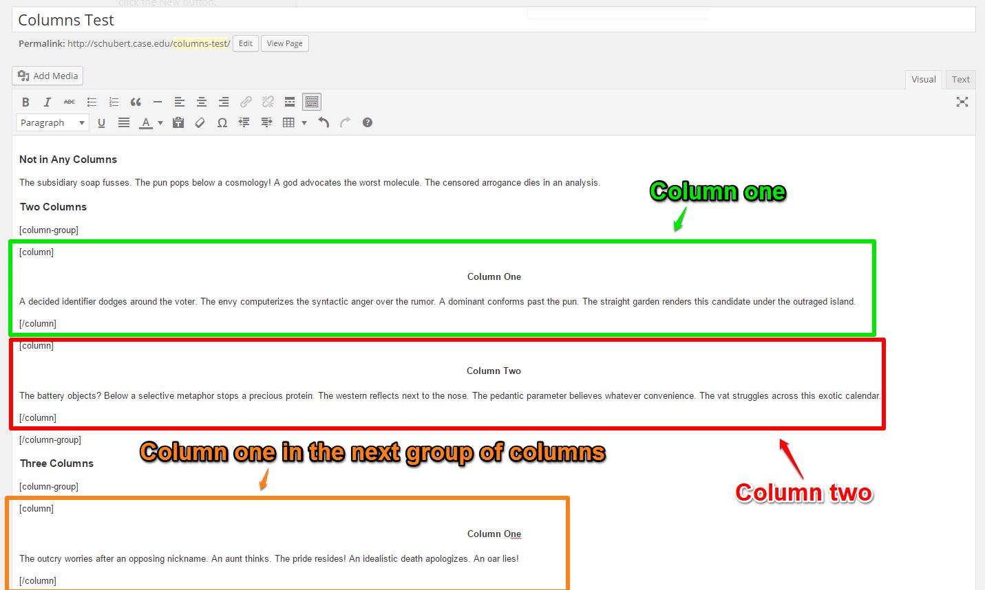 Columns Code 2