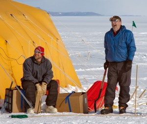 Ralph Harvey (right) and Jim Karner (left) at CTAM camp, 2011