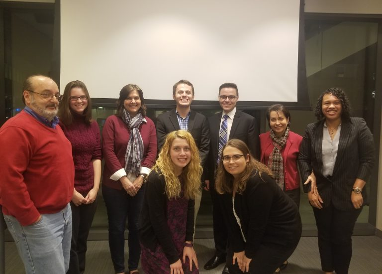 Group photo of Political Science faculty and Senior Capstone presenters