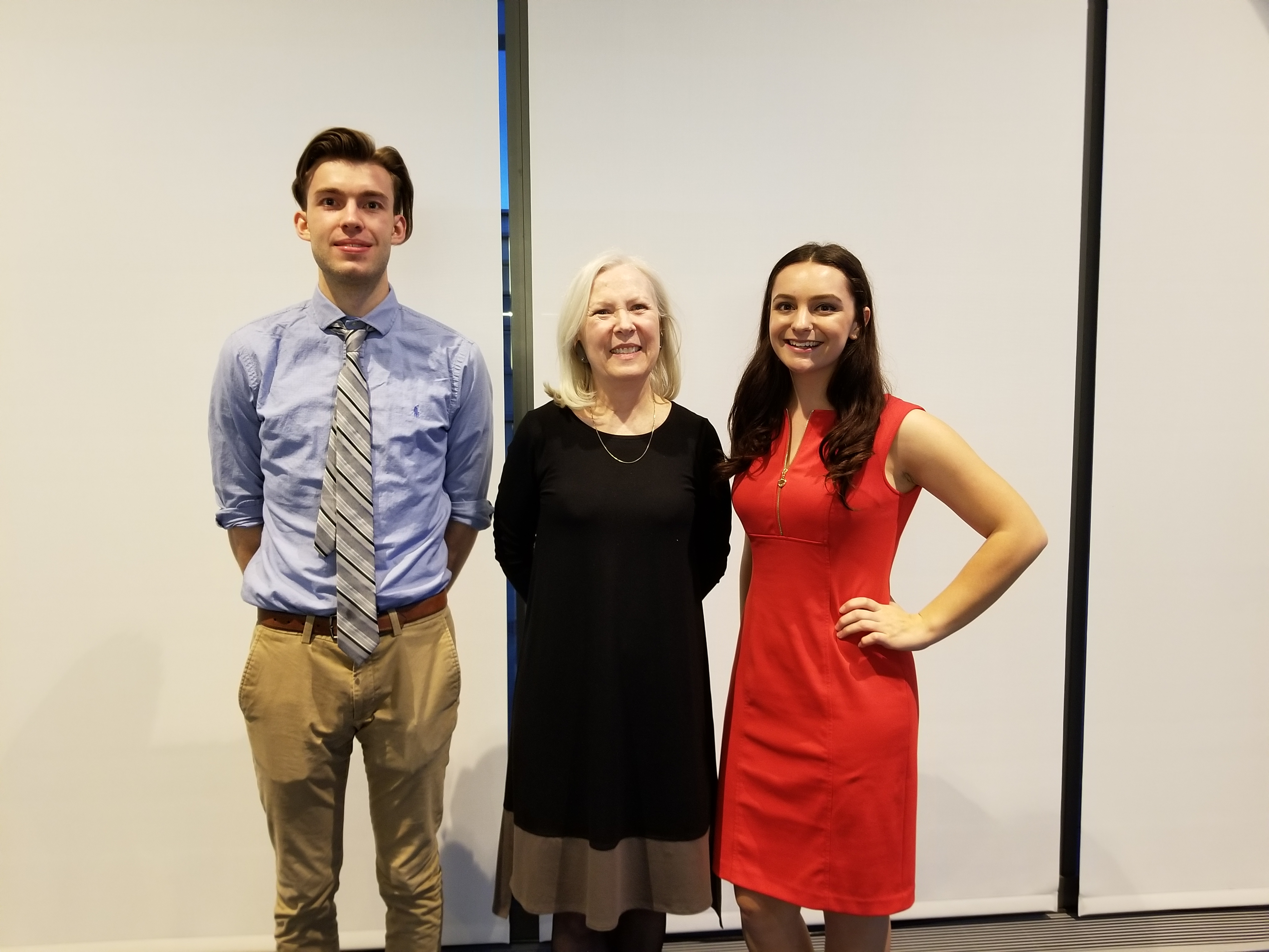 Professor Karen Beckwith and her advisees, David McGrath and Kirsten Costedio.