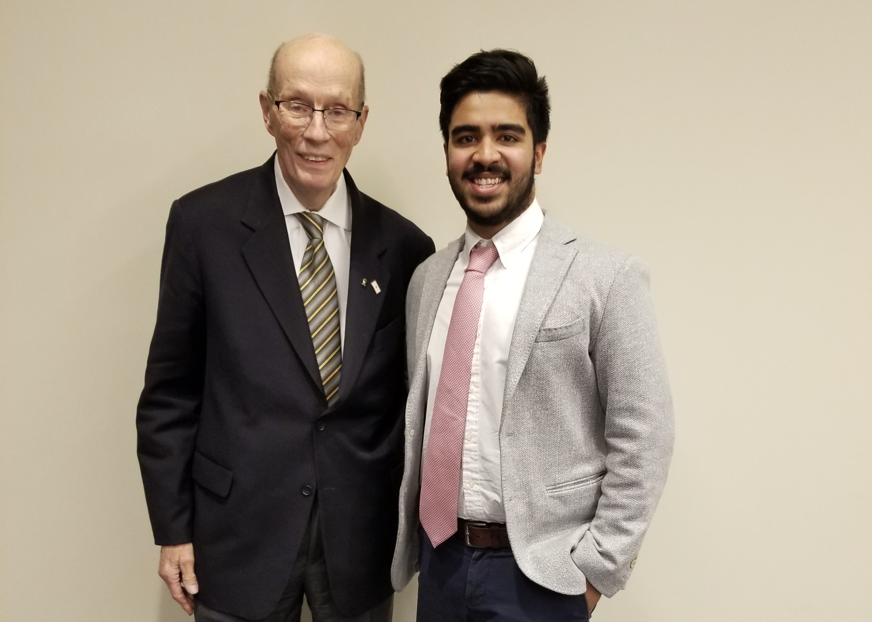 Professor Paul Schroeder with his advisee Sahaam Mirza