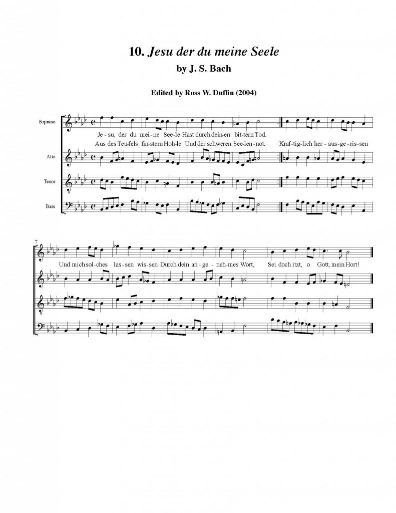 10  Jesu der du meine Seele 1   Dr  Ross W  Duffin