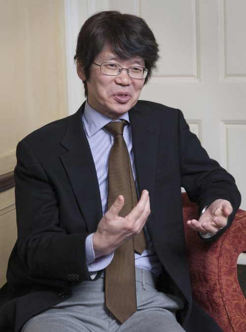 Yasuhiro Shirai, the Børve Professor and chair of the Department of Modern Languages and Literatures, is a leading researcher in the field of language acquisition. Photo by Mike Sands.
