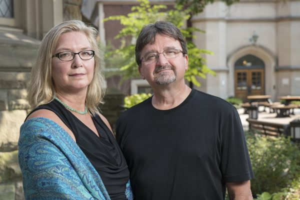 Mary Erdmans and Timothy Black, associate professors in the Department of Sociology, joined the CWRU faculty in 2012. Photo by Mike Sands.