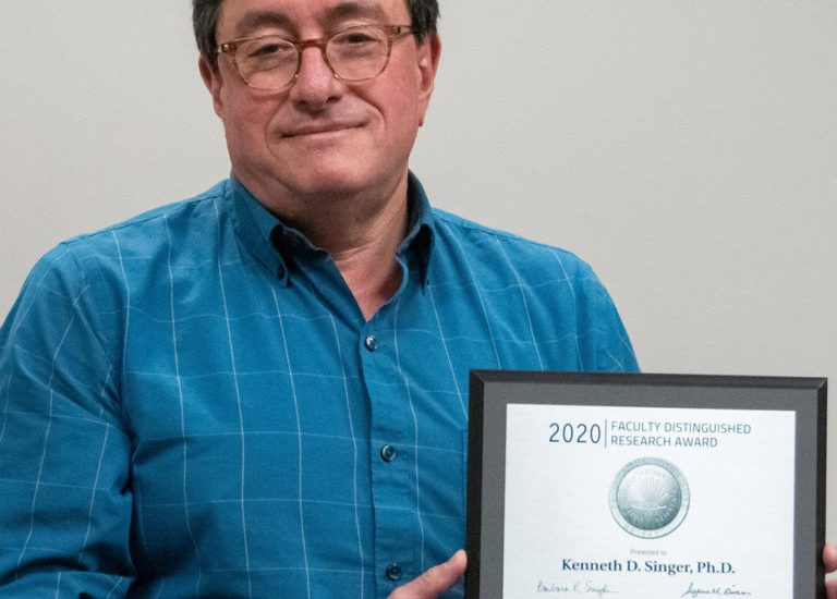 Professor Singer won the Faculty Distinguished Research Award this past Spring for his work in optics and soft materials. This research has fueled the development of Folio Photonics.