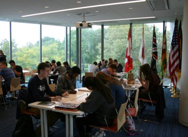 Students study at the Inamori International Center for Ethics and Excellence