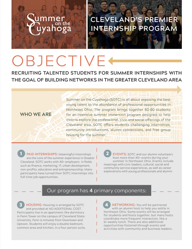 Summer on the Cuyahoga Internships – Undergraduate Humanities