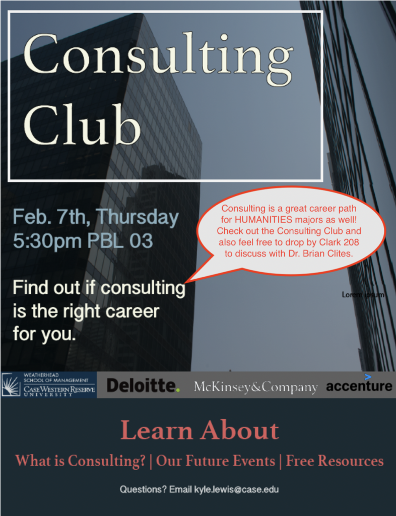 Consulting Club – Calling all Majors! – Undergraduate Humanities