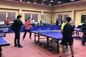 Table tennis club at Peking University where Yang Yang and I played at