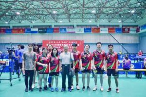 My BLCU table tennis team and I at the annual Haidian county collegiate table tennis competition
