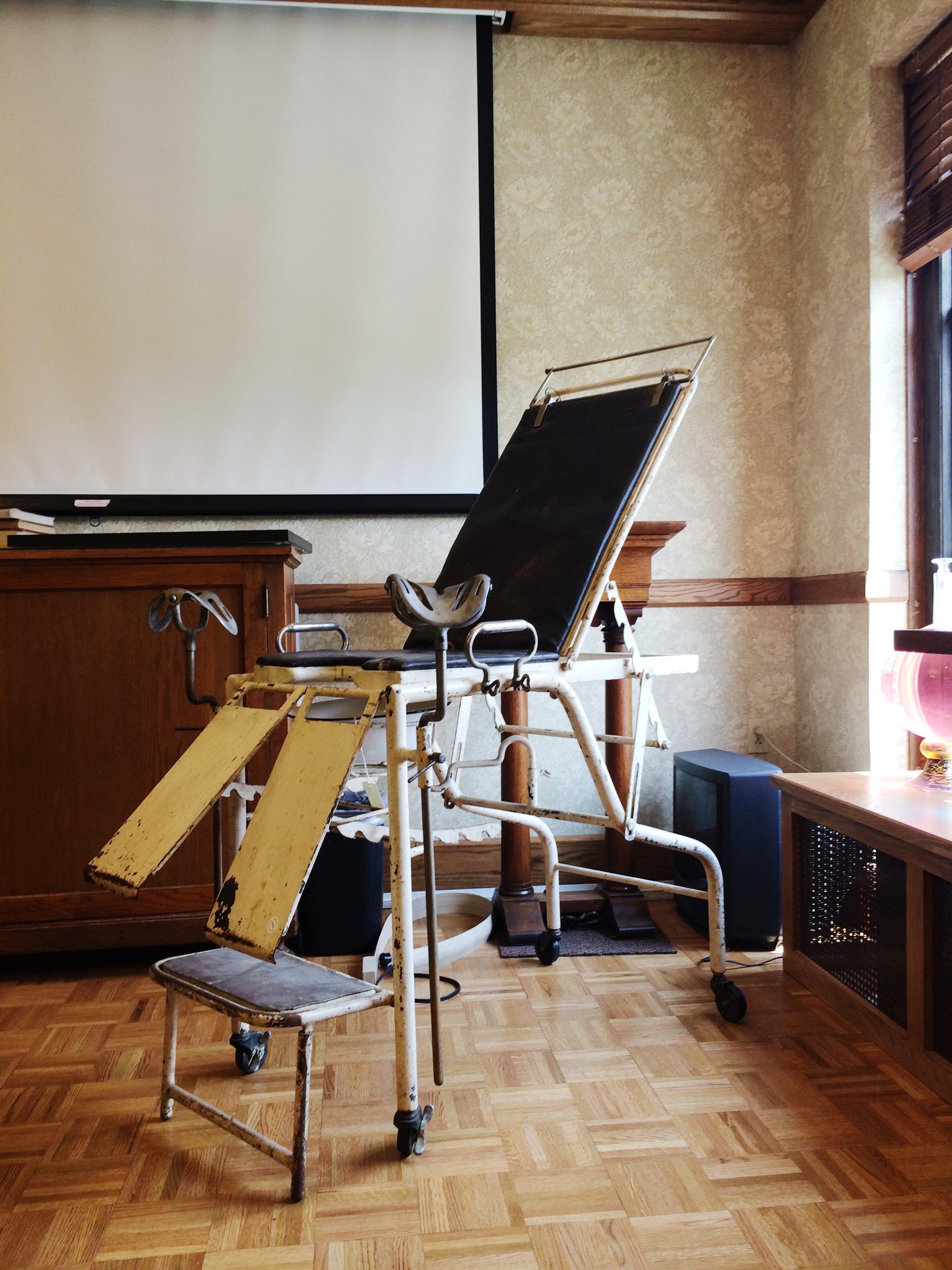 Birth chair, Dittrick Museum