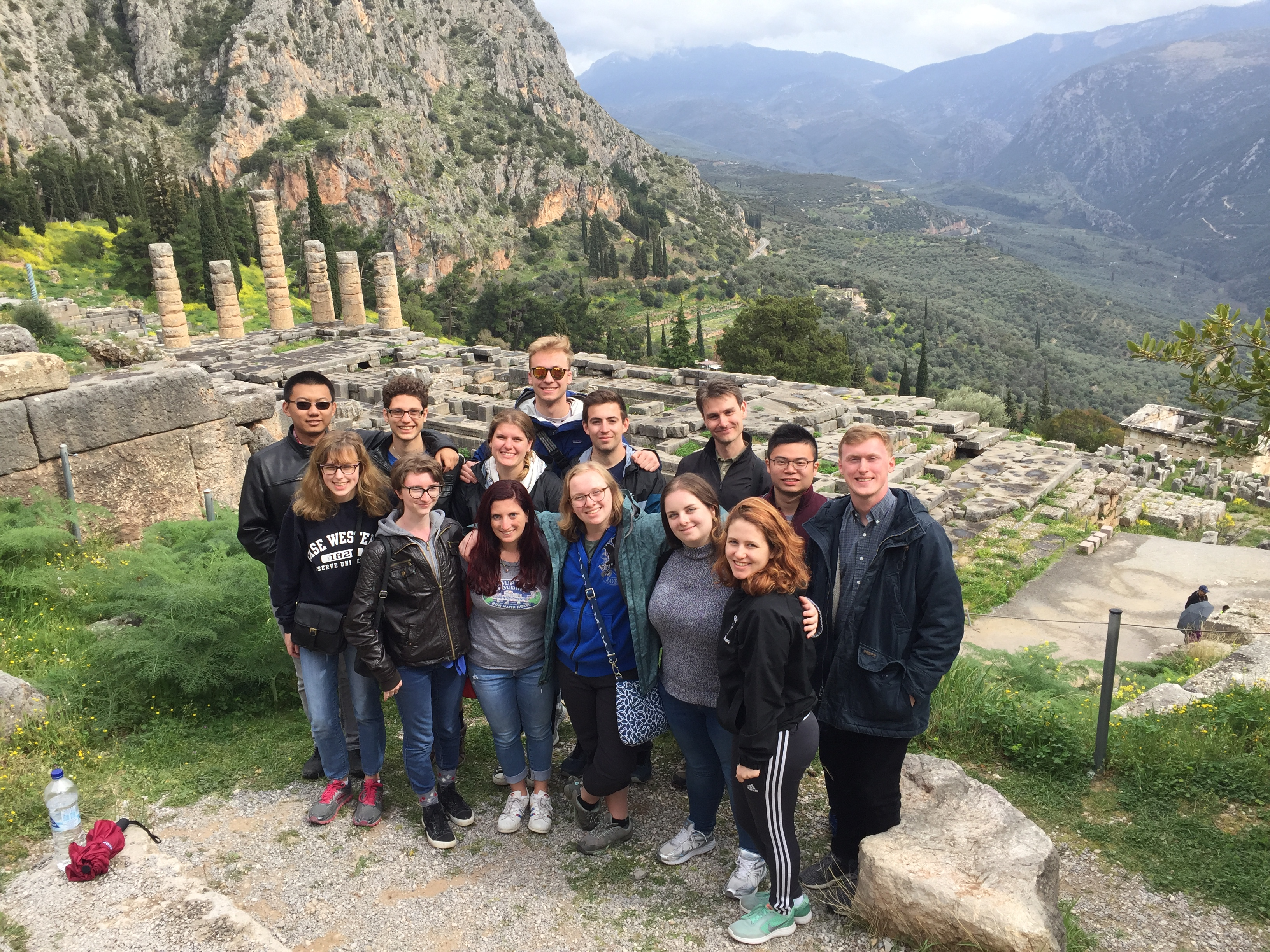 Students at Delphi, Greece
