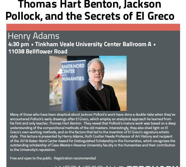 Henry Adams Event Flyer