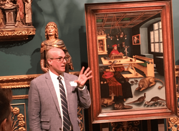 James Wehn gives museum tour in Sarasota, FL 2