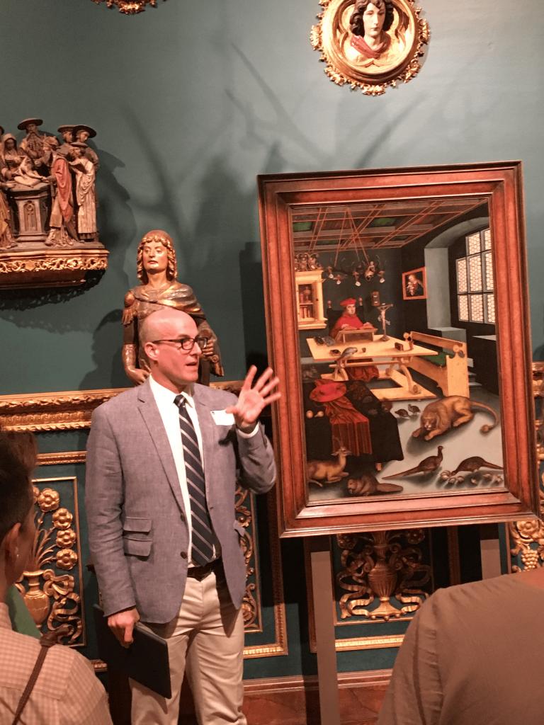 James Wehn gives museum tour in Sarasota, FL 2