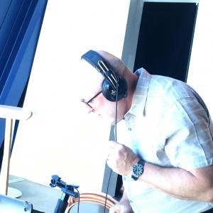 Member with Headphones