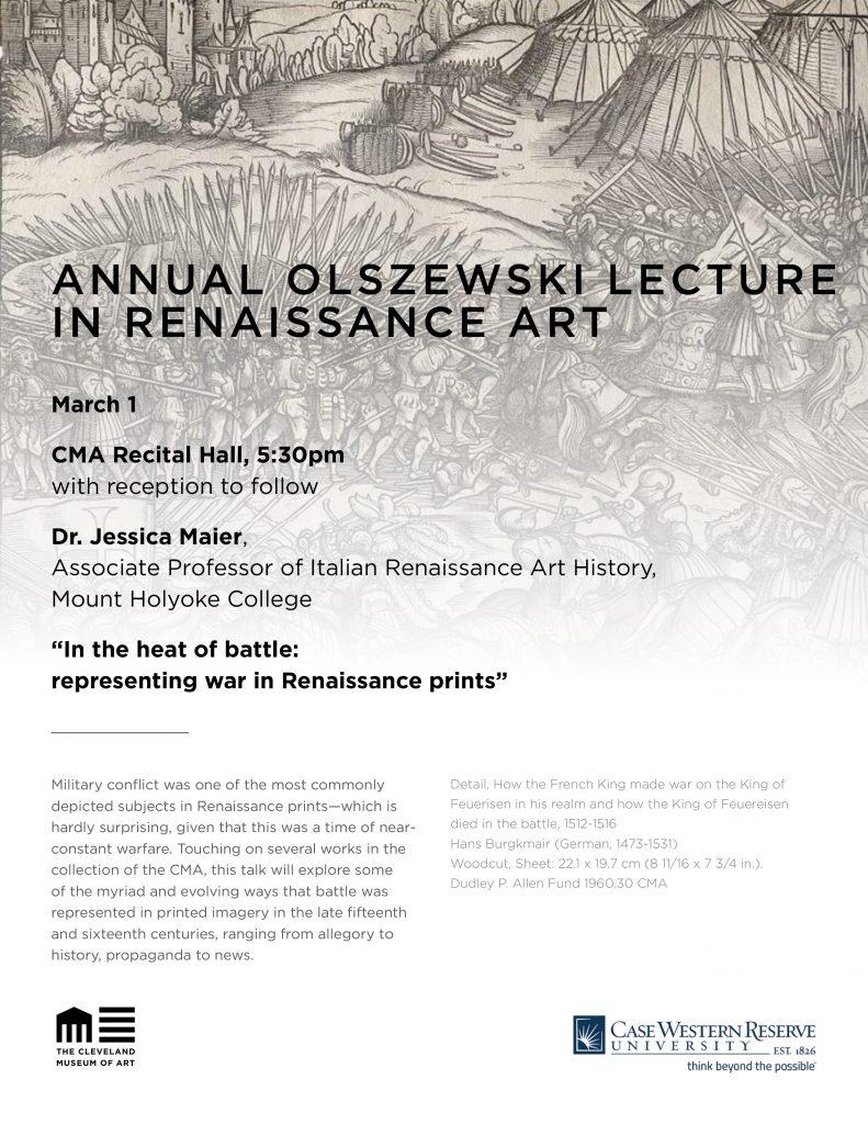 Annual Olszewski Lecture Poster