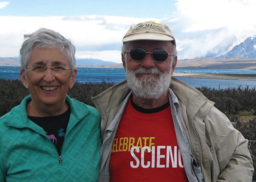Gloria and David Mog at Torres del Paine National Park, Chile
