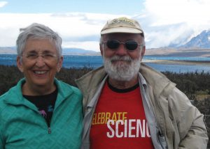 Gloria and David Mog (CIT '64) at Torres del Paine National Park, Chile