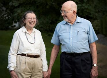Sally and Walter Bonsack at their home in Spokane Valley, Wash. Aug. 17, 2015 for Case Western. (Photo by Rajah Bose)