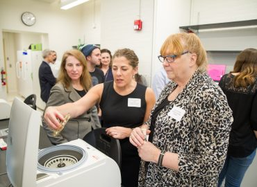 Case Western Reserve University's new biological sciences research space, bio[box], debuted in early February.