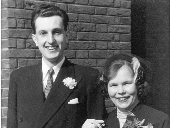 Michael and Barbara Luton on their wedding day in 1952.