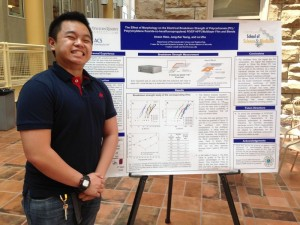 student participant with poster