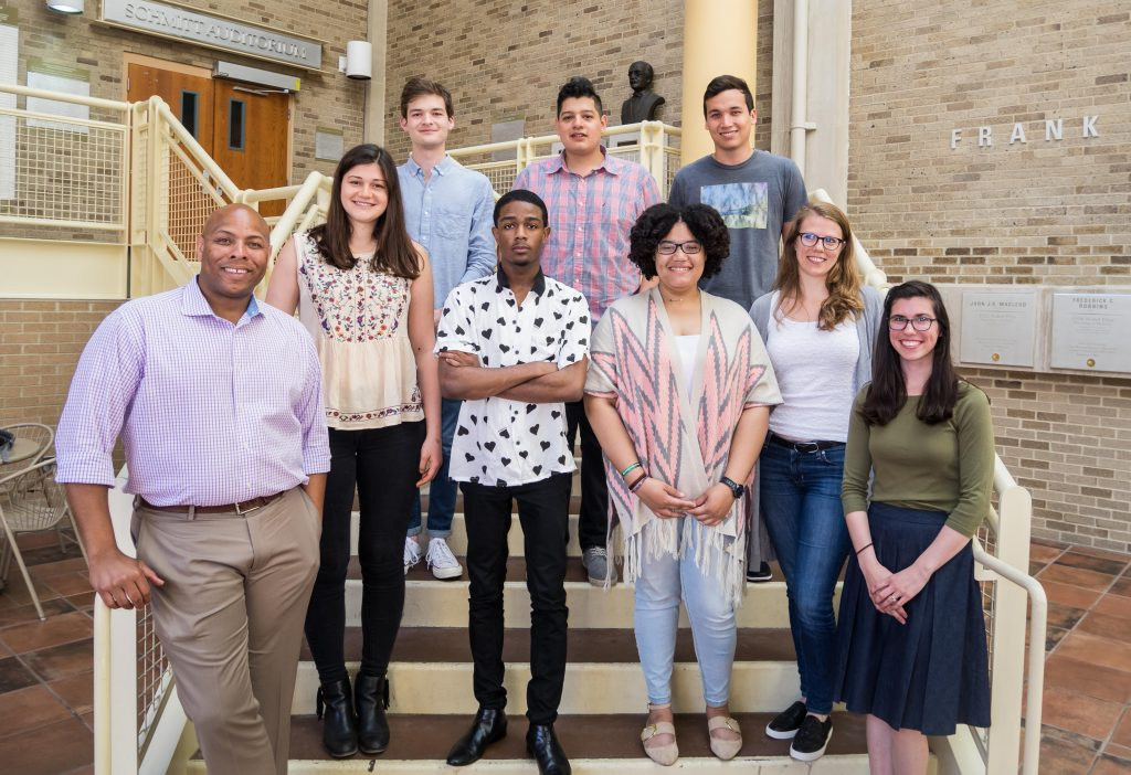 Group photo of 2017 REU fellows, co-directors, and coordinator