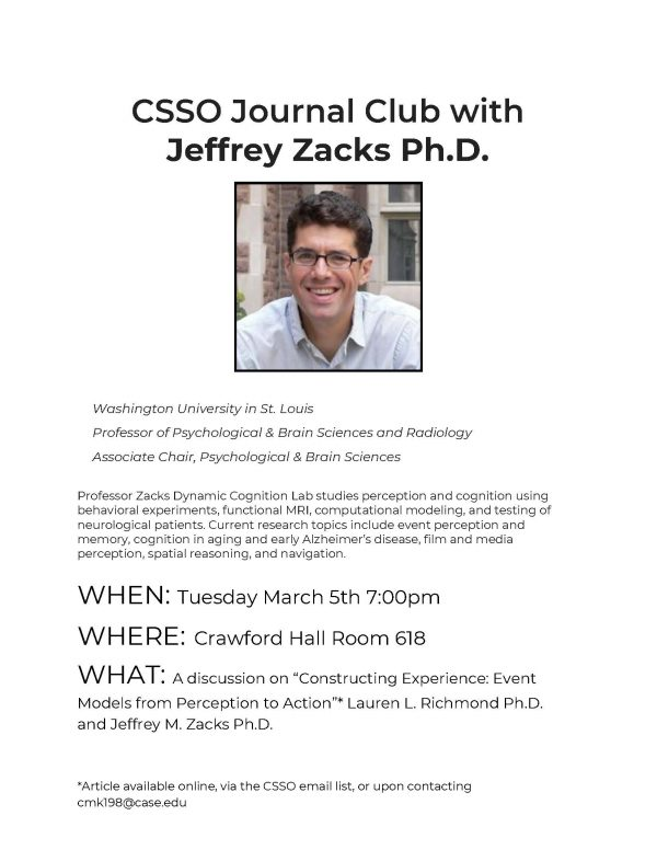 Cool CSSO Event: 3/5, 7pm, Crawford 618 - Department of
