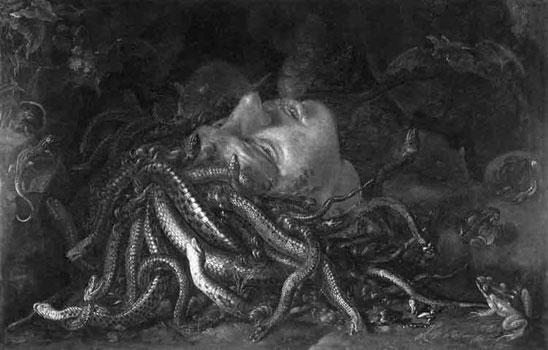 werewolf-of-london-frame-9: Head of Medusa at the Uffizi