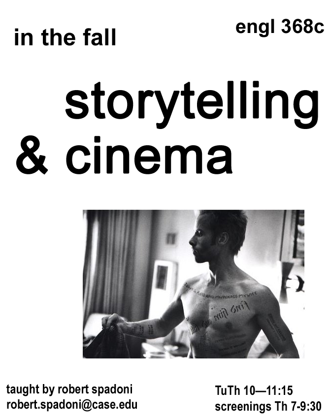 Storytelling and Cinema flier