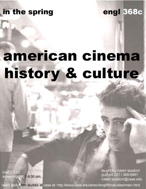 American Cinema History and Culture flier