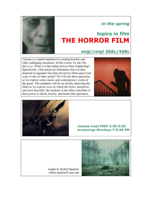 The Horror Film flier