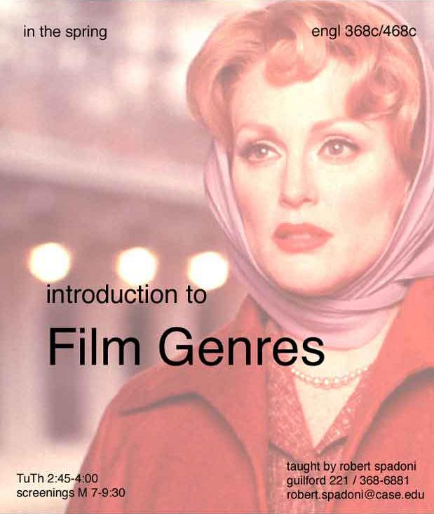 Intro to Film Genres flier
