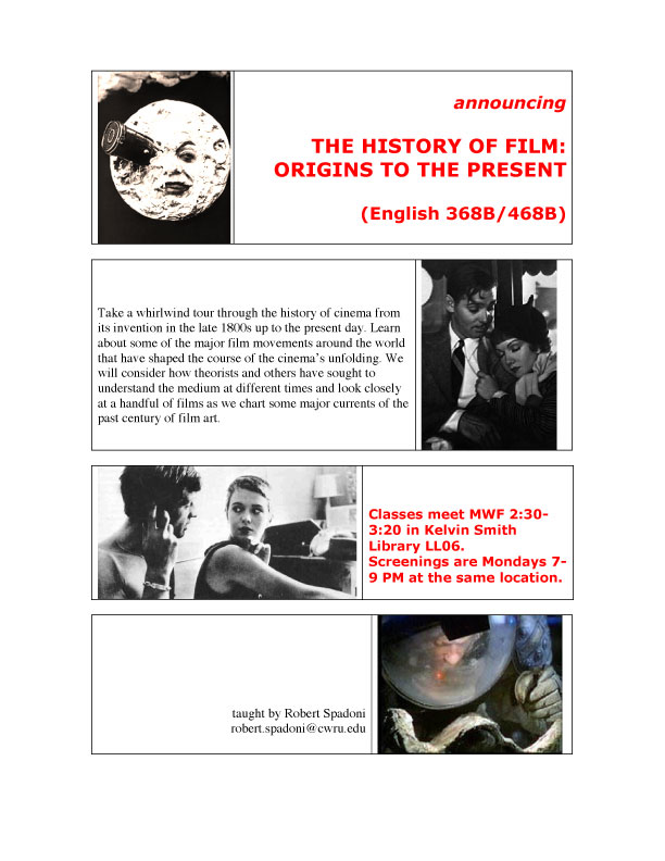 History of Film Flier